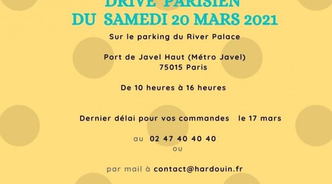 Hardouin Traiteur - Drive du samedi 20 mars Port de Javel Haut